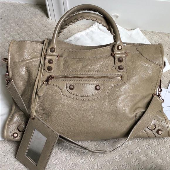 a5bf1e100ca Balenciaga Bags | City Latte With Gold Giant Hardware | Poshmark